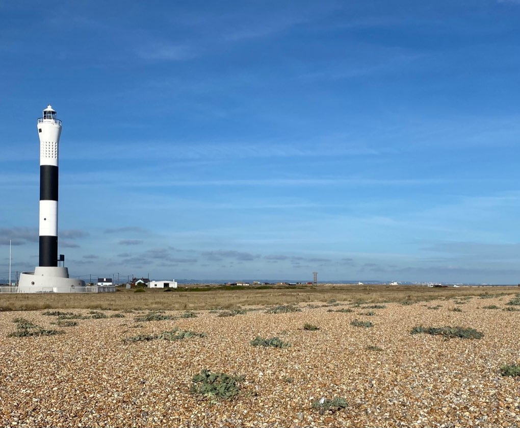 Lighthouse Dungeness warm sunny October Dungeness, Kent,UK, sent by Windy Willow